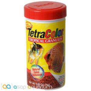 Tetra Color Tropical Granules 2.65oz (75g) Fish Food Color Enhancing Discus Food
