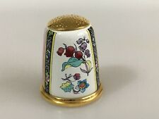 HALCYON DAYS Enamel Thimble V and A Museum FLOWERS
