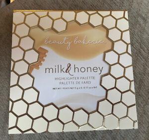 New Beauty Bakerie Milk & Honey Highlighter Palette Full Size Cruelty Free Glow