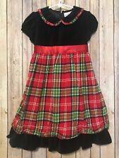 Hanna Andersson Anderson Girls Holiday Plaid Flannel Christmas Dress 110 4 5 6