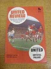 14/02/1970 Manchester United v Crystal Palace. gracias por ver nuestro artículo, si
