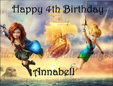 19cm x 25cm Tinkerbell and The Pirate Fairy  ICING Cake Topper