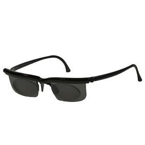 Adlens Adjustab Sundials Unisex Variable Focus Eyewear  EM02-S-BK  with case  !