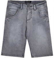Boys New Grey Shorts Kids Summer Denim Jeans Knee Length Half Pants Age 8-16 Yrs