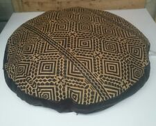 """Ashford Court Leather Patch 36"""" round Dog Bed Cover Only Abstract Print"""