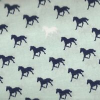 Derby Style blue horses Riley Blake fabric