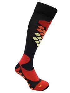 Expansive Ski Winter Socks Red Black Honeycomb Technical Antibacterial 3 sizes