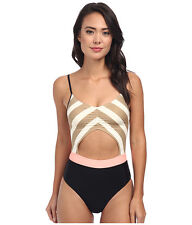 BODY GLOVE DISTRACTION THE TIDE ONE PIECE SWIMSUIT SAND MULTI SMALL NEW! $100