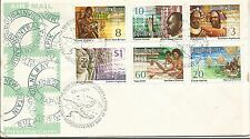 1974 FDC Panorama 3rd set of 6 FDC FDI Port Moresby 23.1.74 Unaddressed