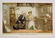 ENGRAVING DR.SYNTAX  ROWLANDSON  DR.SYNTAX AND THE DAIRY MAID ACKERMANS 1813