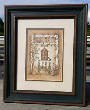 Framed Print Bless Our Home Birdhouse Linda Spivey