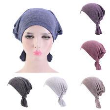 Women Protect Hair Cap Nightcap Elastic Cotton Solid Hat Casual Summer Nurse Cap