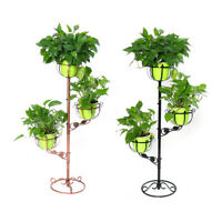 Plant Pot Stand Flower Display Metal Shelf Garden Patio Indoor Outdoor 3 Tier US