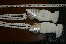 4 Huge South Pacific Trochus Mother Pearl Nacre Shell Decor Accent Pull Tassels-