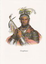 "1972 Vintage Full Color Art Plate ""CORNPLANTER"" NATIVE AM. INDIAN Lithograph"