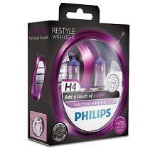 2 Bombillas Philips ColorVision Morado H4 Faros Coche Color Vision Violeta Xenon