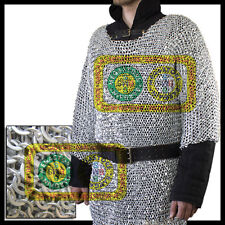 XL Size Aluminium Round Riveted w/ Flat Washer Chain Mail Shirt Chainmail Armor