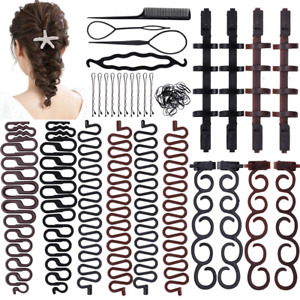 Twist Plait Hair Braiding Hairdressing Tool Topsy Tail French Style Braid Side