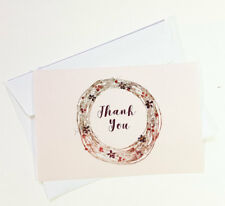 15 Thank You Cards Notes Flower Wedding Business Birthday Thankful Note THANK27