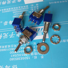 10pcs Mini MTS-102 3-Pin SPDT ON-ON 6A 125VAC Toggle Switches ESUS PL