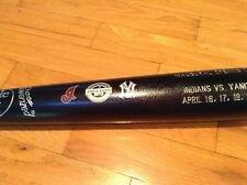 NEW YORK YANKEES NEW STADIUM OPENING DAY BAT INAUGURAL INDIANS A-ROD JETER