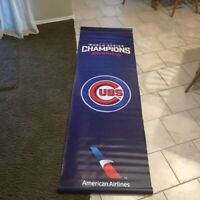 Chicago Cubs ™ 2016 World Series Champions Double Sided Street Banner (one)