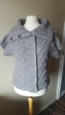 Gap Ladies Chunky Short Sleeve Cardigan Size XL Grey Wool Blend
