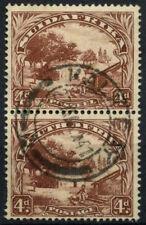 South Africa 1936 SG#46c, 4d Native Kraal Used Vert Pair #D55851