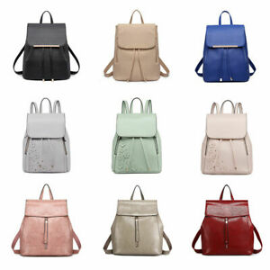 Ladies Girls Backpack Classic Rucksack PU Leather Shoulder School Bag Travel