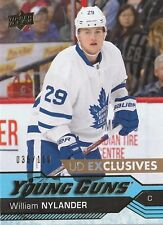 2016-17 UD Exclusives William Nylander Young Guns /100