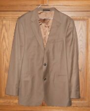 KENNETH ROBERTS PLATINUM COLLECTION WORSTED WOOL BROWN 2 PIECE SUIT SIZE 44 L