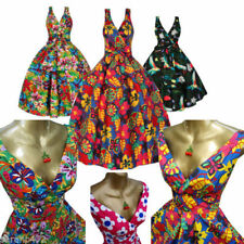Rockabilly Machine Washable Floral Dresses for Women