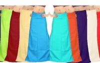 Petticoat Sari Saree Underskirt Pure Cotton Bollywood Indian Matching Choose