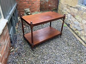 Victorian mahogany two tier serving trolley or buffet
