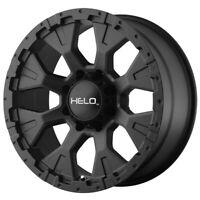 "4-Helo HE878 17x9 6x5.5"" -12mm Satin Black Wheels Rims 17"" Inch"