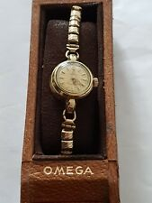 Ladies Vintage Gold Filled Omega Seamaster Ladymatic Wrist Watch In Original Box