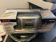 RCA AM/FM STEREO RADIO SIX BUTTON CASSETTE PLAYER RECORDER RP-77125 NEW!