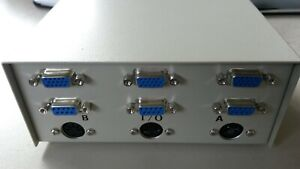 Sehr hochwertiger DATA SWITCH UMSCHALTER VGA + RS232 9 Pol + 5P Diode 2 Computer