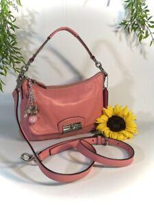 COACH KRISTEN Pink and pretty as a Peach handbag Shoulder Bag Purse L 1275-F2230