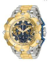 Invicta Venom Hybrid Blue Dial TwoTone Swiss Chronograph SS bracelet Watch