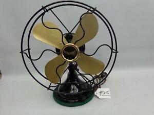 "Antique Menominee 9"" fan older restoration type 510 AC-DC runs great"