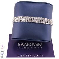 Bracciale Tennis Trilogy argento Swarovski Element originale G4L cristalli donna