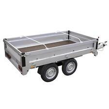 Flachplanenbügel Aluminium verstellbar 132 -210cm Anhänger Planenstütze 2 STÜCK