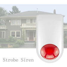 120dB J008 Sirène Strobe Flash Sécurité Extérieur Sans Fil pour Alarme de Maison