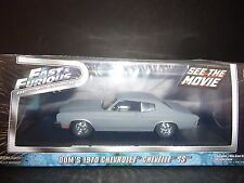 Greenlight Chevrolet Chevelle SS454 PLAT GRIS FAST AND FURIOUS 1/43