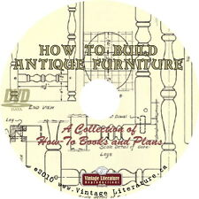 How To Build Antique Furniture { Vintage Woodworking Plans} on DVD