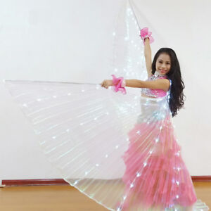 Kids LED Light Glowing Wings Fairy Indian Belly Dance Performance Stage  *