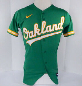 2020 Oakland Athletics Blank Game Issued Kelly Green Jersey Nike 38 710953S