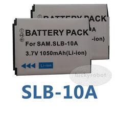 2pcs SLB-10A SLB10A Battery for Samsung WB855F WB850F TL9 SL820 PL70 NV9 L310W