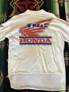 Vintage 80s O'Neal USA HONDA Long Sleeve T-Shirt Made In USA Sz XL